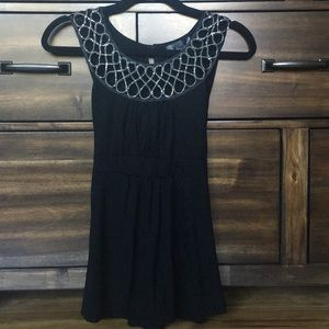 Black blouse with silver design detail